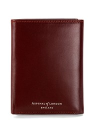 Aspinal Of London Trifold Wallet Red