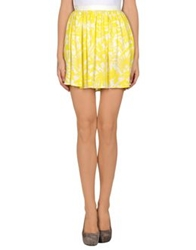 American Vintage Mini Skirts Yellow
