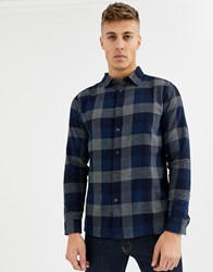 Native Youth Brushed Check Shirt Blue