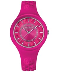 Versus By Versace Women's Fire Island Pink Silicone Strap Watch 39Mm Soq030015 No Color