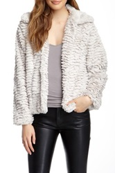 Fever Plush Faux Fur Jacket White