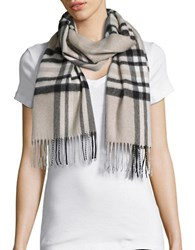 Lord And Taylor Plaid Cashmere Scarf Tan