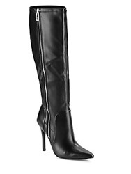 Charles By Charles David Point Toe Over The Knee Boots Black