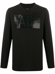 Armani Exchange Logo Embroidered Long Sleeved Top 60