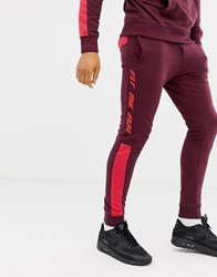 Blend Of America Fly The Flag Sweatpants Co Ord 73812 Wine Red