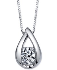 Sirena Diamond Pendant Necklace 1 2 Ct. T.W. In 14K White Gold