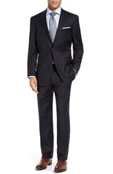 Hart Schaffner Marx Men's Big And Tall 'New York' Classic Fit Worsted Wool Blend Suit Navy
