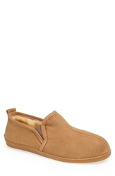 Minnetonka Sheepskin Sierra Slipper Men Tan