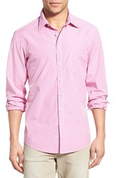 Men's Rodd And Gunn 'Freeman' Trim Fit Check Sport Shirt Fuchsia
