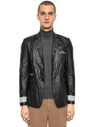 Undercover Printed Polyethylene Jacket W Patch Black