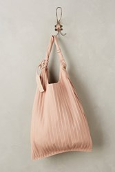 Anthropologie Reversible Leather Tote Pink