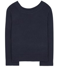 The Row Crisac Cotton And Silk Blend Top Blue