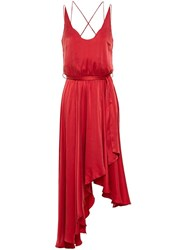 Zimmermann Empire Sueded Dress Red