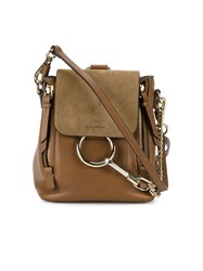 Chloe Mini Brown Leather Faye Backpack