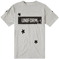 Uniform Experiment Star Print Box Logo Tee Grey