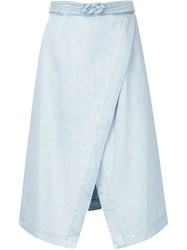 Sea A Line Wrap Skirt Blue
