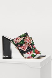 Dolce And Gabbana Roses Mules Mix