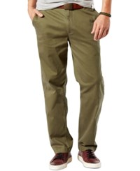 Dockers Men's Big And Tall Classic Fit Stretch Washed Khaki Flat Front Pants Dockers Olive