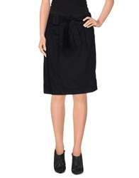 Miu Miu Knee Length Skirts Dark Blue