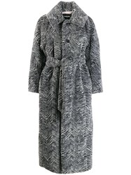 Dsquared2 Faux Fur Belted Coat Grey