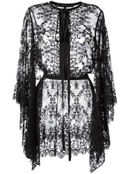 Elie Saab Pussybow Lace Blouse Black