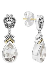 Lagos Women's 'Caviar Color' Semiprecious Stone Teardrop Earrings White Topaz