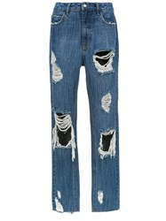 Spacenk Nk Distressed Jeans Blue