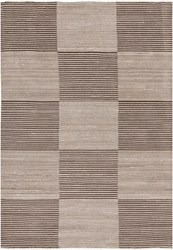 Chandra Elantra 51704 Rectangular Hand Knotted Contemporary Wool Area Rug Brown
