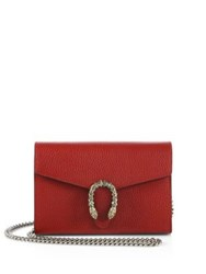 Gucci Dionysus Mini Leather Chain Wallet Red Mult