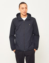 Farah Newbern Zip Through Short Parka Black