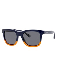 Jack Spade Wagner Two Tone Square Sunglasses Blue