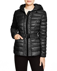 Dkny Lightweight Hooded Puffer Jacket Black