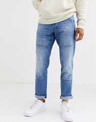 G Star Faeroes Straight Tapered Jeans Blue