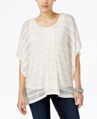 Styleandco. Style Co. Crochet Poncho Top Only At Macy's Vintage Cream
