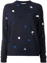 Etre Cecile Embroidered Sweatshirt Black