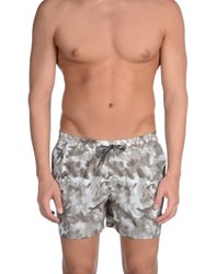 Paolo Pecora Swimwear Swimming Trunks Men Grey