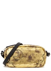 Mcq By Alexander Mcqueen Addicted Gold Leather Cross Body Bag