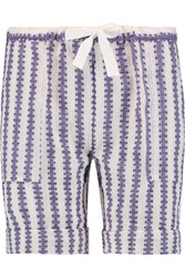 Lemlem Elsabet Cotton Blend Jacquard Shorts Purple