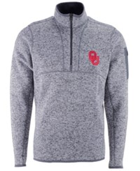 Antigua Oklahoma Sooners Fortune Quarter Zip Pullover Lightgrey Heather