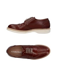Andrea Morelli Lace Up Shoes Brown