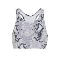Varley Berkeley Snake Print Sports Bra Grey
