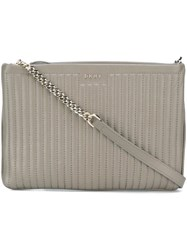 Dkny Quilted Crossbody Bag Grey