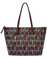 Fossil Rachel Large Tote Fall Multi Gold