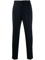 Officine Generale Turn Up Trousers Blue