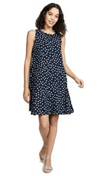 Three Dots Spring Dot Dress Night Iris