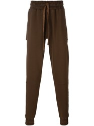 Blood Brother Gathered Ankle Track Pants Brown