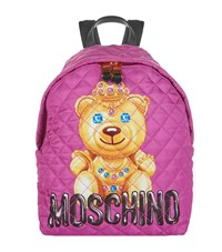 Moschino Quilted Bear Backpack Female Pink