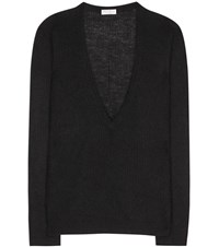 Brunello Cucinelli Mohair And Wool Blend Sweater Black