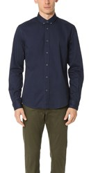 Scotch And Soda Washed Twill Button Down Shirt Denim Blue