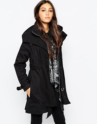 Religion Trench Coat Jetblack